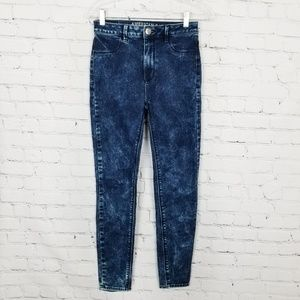 AEO|Acid Wash Sky-High Jeggings size 2.